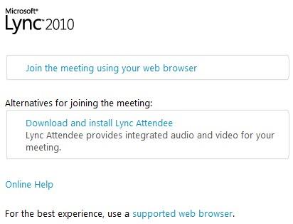 Lync Web Client