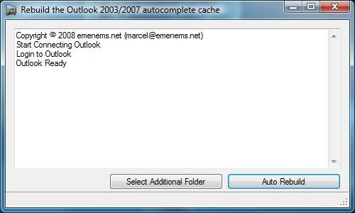 Rebuild Outlook Cache